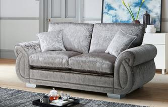 Matilda Formal Back 2 Seater Deluxe Sofa Bed Krystal