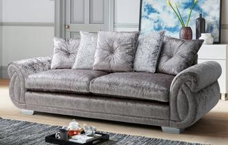 Matilda Pillow Back 4 Seater Sofa Krystal