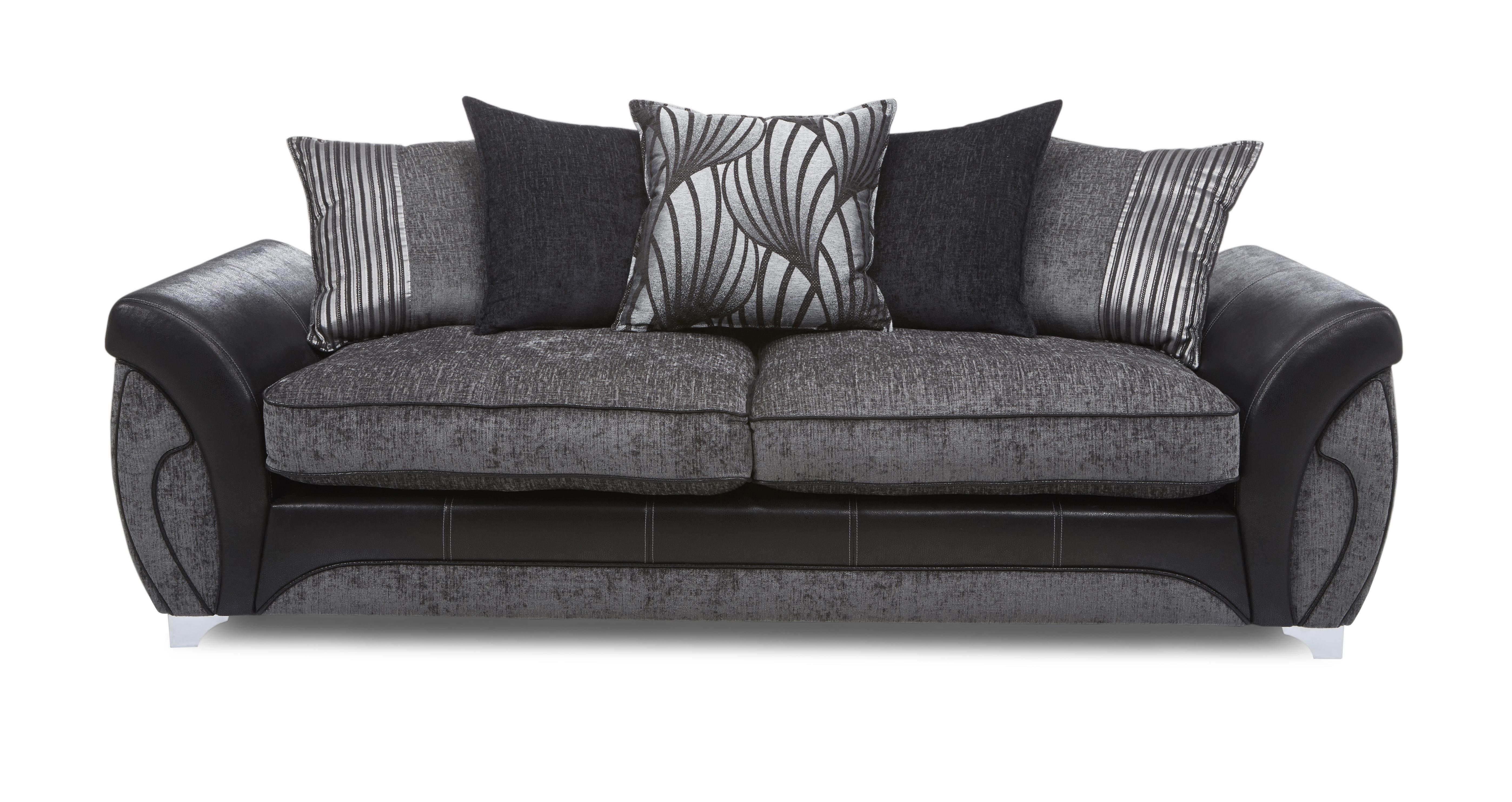 Dfs black and grey sofa for Black and grey sofa