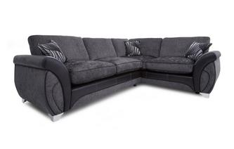 Left Hand Facing 3 Seater Formal Back Corner Sofa Matinee