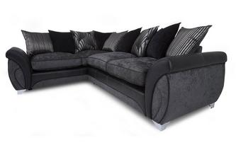 Right Hand Facing 3 Seater Pillow Back Corner Sofa Matinee