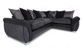 Left Hand Facing 3 Seater Pillow Back Corner Deluxe Sofa Bed Matinee