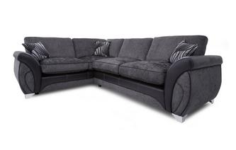 Right Hand Facing 3 Seater Formal Back Deluxe Corner Sofa Bed Matinee