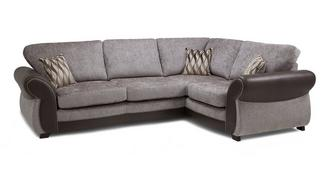 Matira Left Hand Facing 3 Seater Formal Back Deluxe Corner Sofa Bed