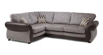 Matira Right Hand Facing 3 Seater Formal Back Deluxe Corner Sofa Bed