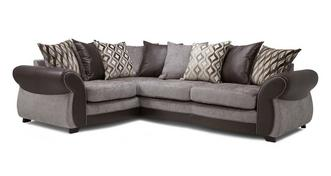 Matira Right Hand Facing 3 Seater Pillow Back Deluxe Corner Sofa Bed