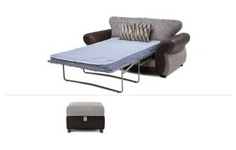 2 Seater Deluxe Sofabed & Storage Footstool