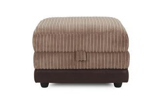 Storage Footstool Mawson Rib