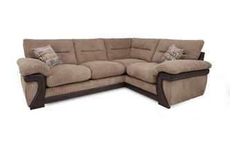 Left Arm Facing 2 Piece Corner Sofa Mawson Rib
