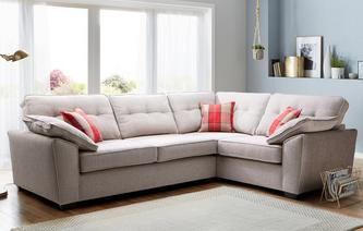 Maxwell Left Hand Facing 3 Seater Deluxe Corner Sofa Bed Keeper