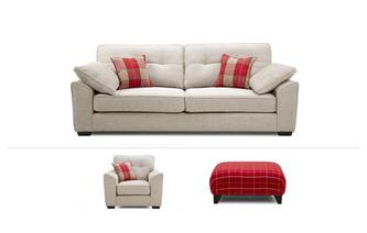 Maxwell Clearance 4 Seater, Chair & Footstool Keeper