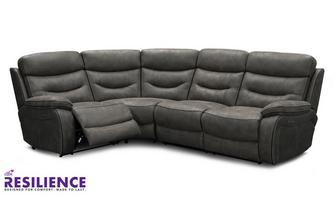 Fabric Right Hand Facing 2 Corner 1 Power Double Recliner