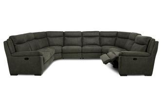 Option N Manual 8 Piece U Shape Sofa