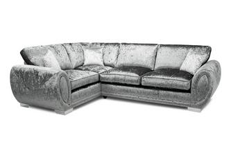 Formal Back Right Hand Facing 3 Seater Supreme Corner Sofa Bed
