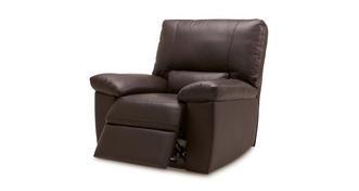 Mellow Leder met lederlook  Handbediende recliner stoel