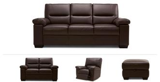 Mellow Clearance 3 Seater Sofa, 2 Seater, Manual Recliner Chair & Stool