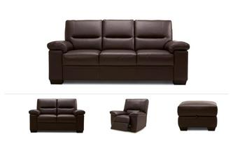 3 Seater Sofa, 2 Seater, Manual Recliner Chair & Stool