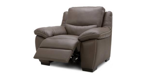 Menaggio Leder met lederlook Elektrische recliner fauteuil