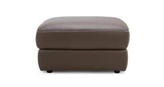 Menaggio Leather and Leather Look Storage Footstool