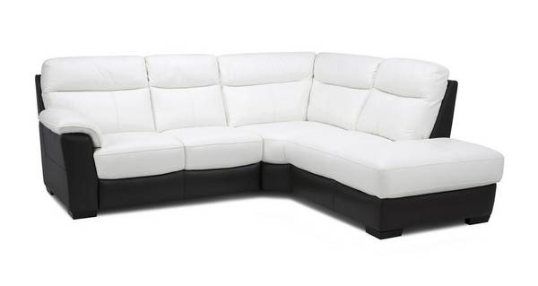 Mercier Leather and Leather Look Option A Left Hand Facing Arm 2 Piece Corner Sofa