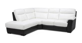 Mercier Leather and Leather Look Option E Right Hand Facing Arm 2 Piece Corner Sofa