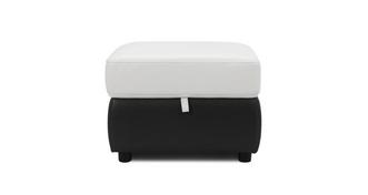 Mercier Leather and Leather Look Storage Footstool