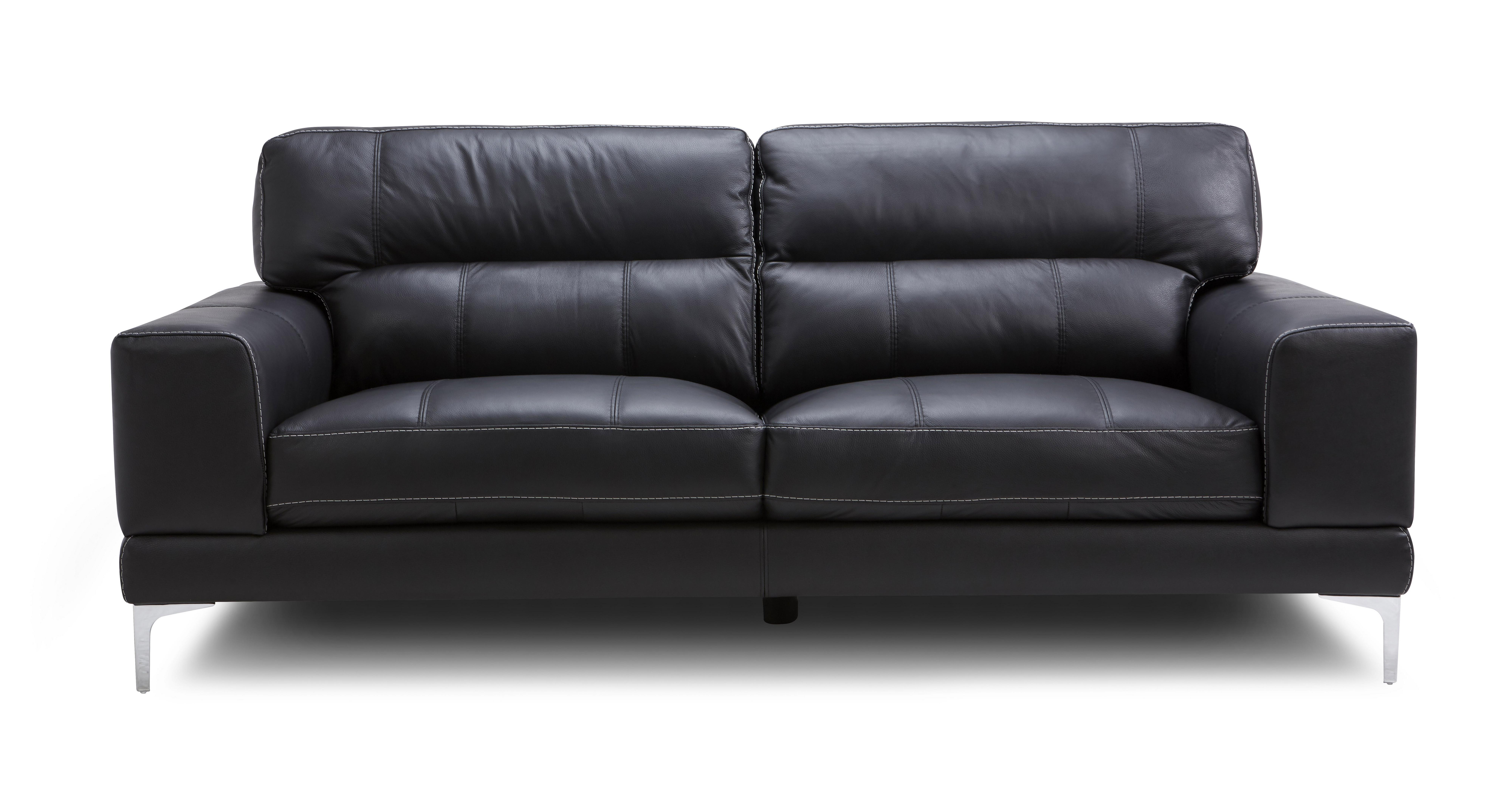Cheap black leather sofas for Sofa dreams