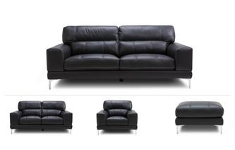 Mercure Clearance 3 Seater Sofa, 2 Seater Sofa, Chair & Stool Dream Contrast Stitch