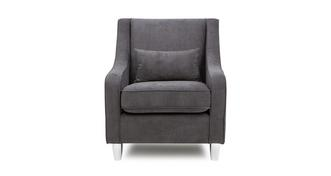 Merit Plain Accent Chair with Plain Bolster