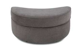 Half Moon Footstool Plaza