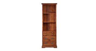 Merlot Tall Bookcase with Drawers