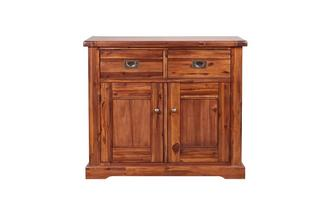 Small 2 Drawer 2 Door Sideboard Merlot