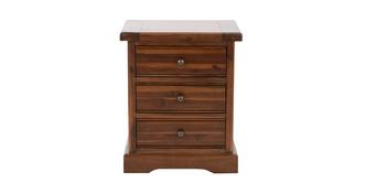Merlot Bedroom 3 Drawer Bedside Cabinet