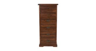 Merlot Bedroom 6 Drawer Tall Chest
