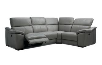 Option F Left Hand Facing 2 Corner 1 Manual Double Recliner