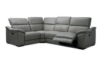 Option K Right Hand Facing 1 Corner 2 Power Double Recliner