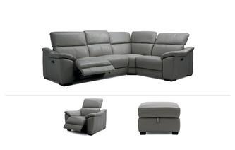 Corner Recliner Sofa, Recliner Chair & Stool