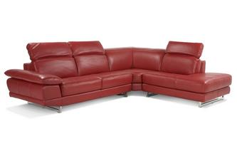 Left Arm Facing Corner Sofa Vogue Leather