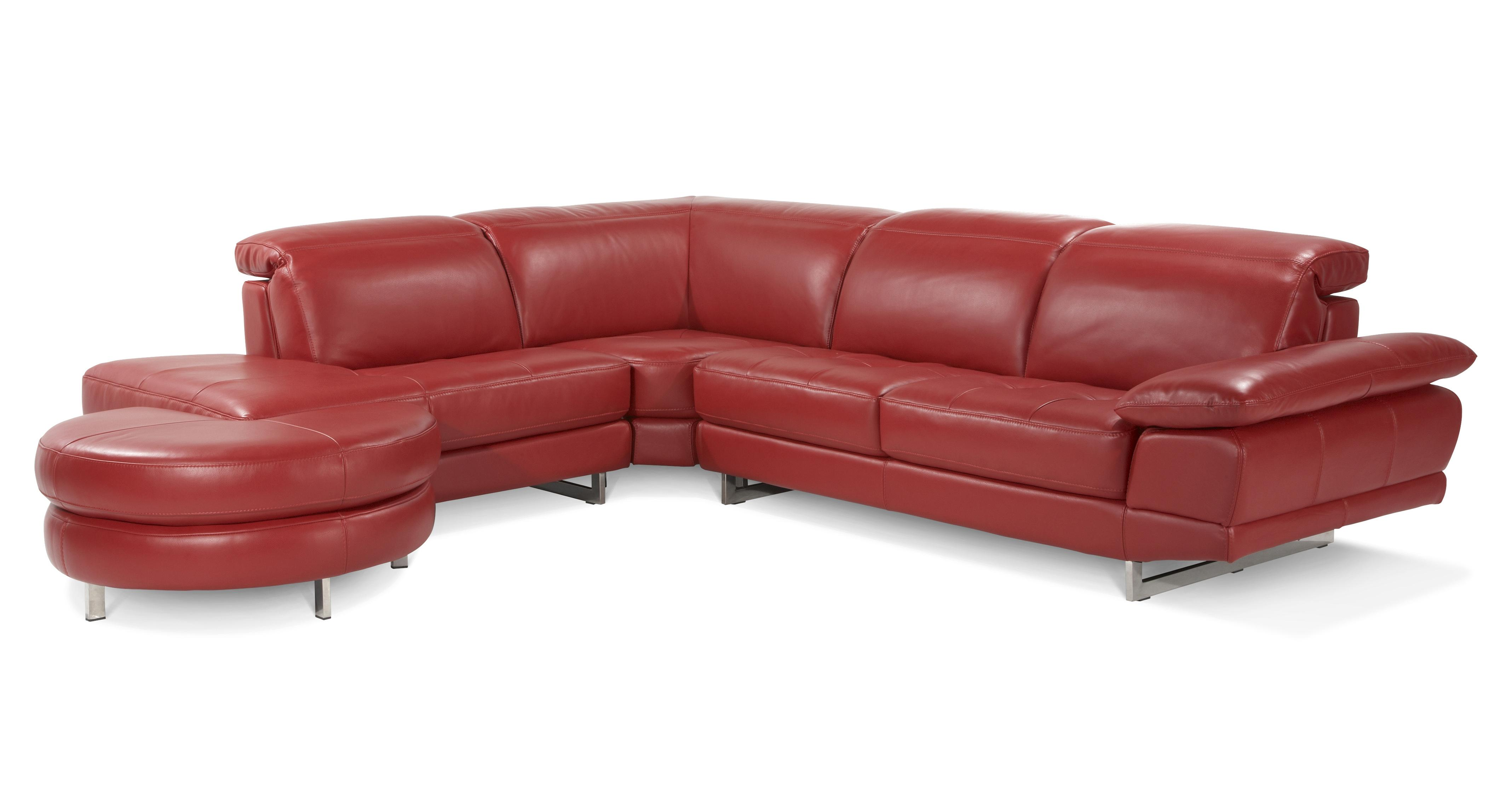 Red leather corner sofa dfs for Red corner sofa
