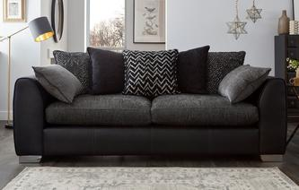 Mistra Pillow Back 4 Seater Sofa Carrara
