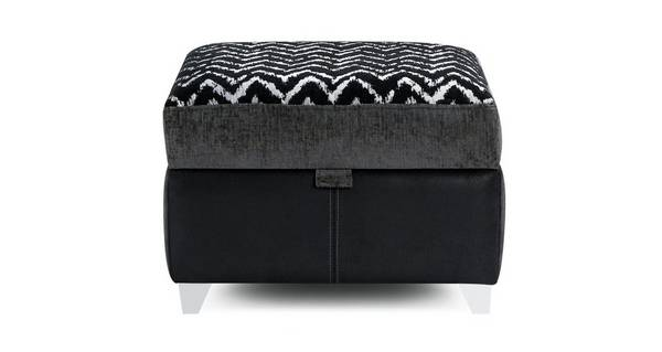 Mistra Pattern Top Storage Footstool