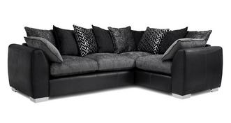 Mistra Pillow Back Left Hand Facing 3 Seater Corner Sofa