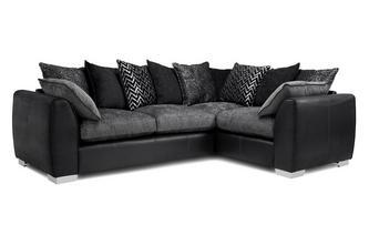 Pillow Back Left Hand Facing 3 Seater Corner Sofa Carrara
