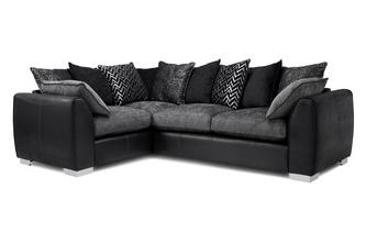 Pillow Back Right Hand Facing 3 Seater Corner Sofa Carrara
