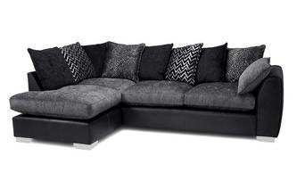 Pillow Back Right Hand Facing Open End Corner Sofa Carrara