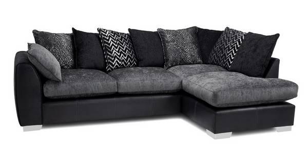 Mistra Pillow Back Left Hand Facing Open End Corner Sofa