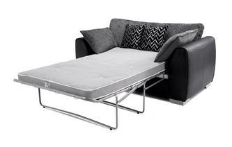 Formal Back 2 Seater Deluxe Sofa Bed Carrara