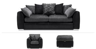 Mistra Clearance 4 Seater Sofa, Chair & Stool