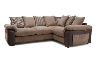 Pillow Back Left Hand Facing 2 Seater Corner Sofa