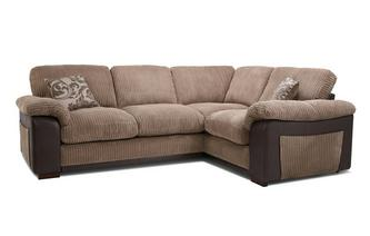 Formal Back Left Hand Facing Deluxe Corner Sofa Bed